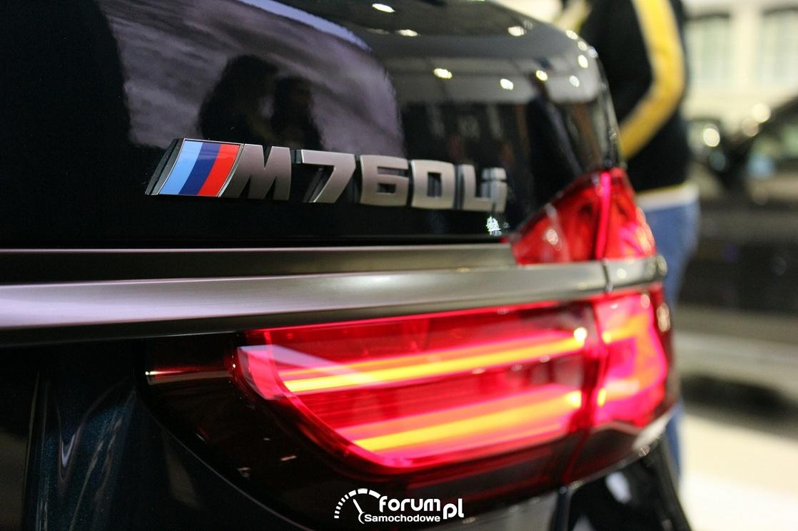 BMW M760Li, emblemat