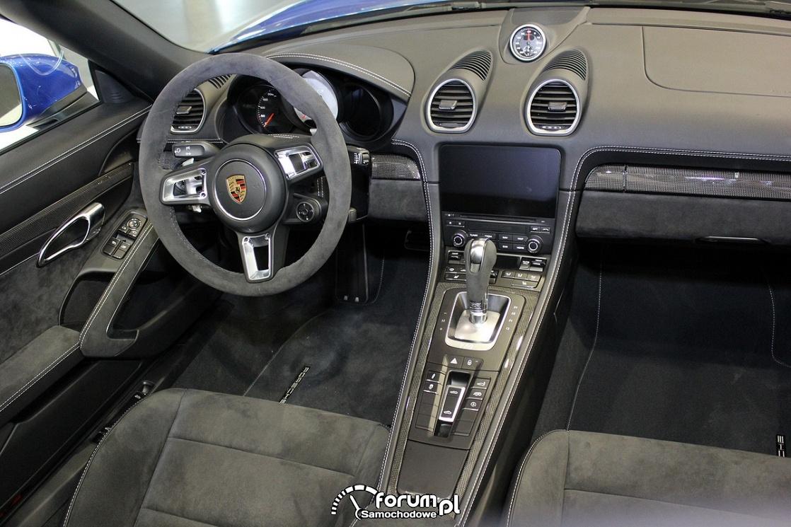 Porsche 718 Boxter GTS, wnętrze