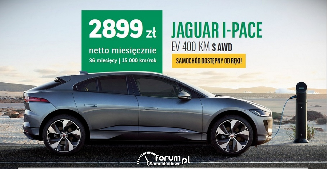 Jaguar I-Pace EV 400KM S AWD - Arval Service Lease Polska