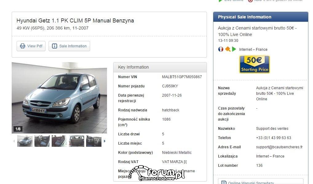 Hyundai Getz 1.1 nie może mieć 206 tys.