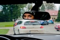 Zawodnicy na trasie - widok z samochodu - zdjęcie 3