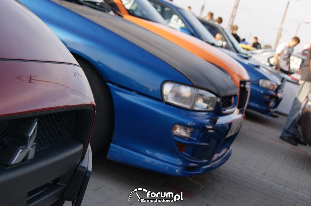 Mitsubishi, Subaru, Audi