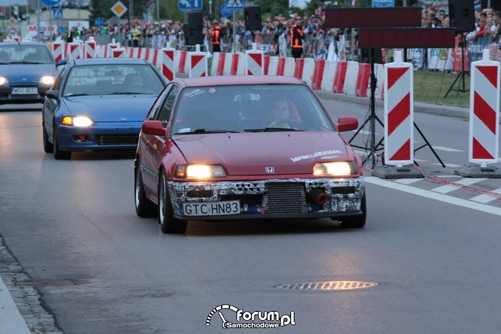 Ulica Spokojna w Łomży podczas wyścigu