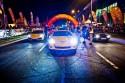 Lamborghini, Corvette, BMW, samochody w nocy