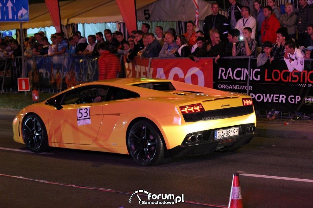 Lamborghini Gallardo, tył w nocy
