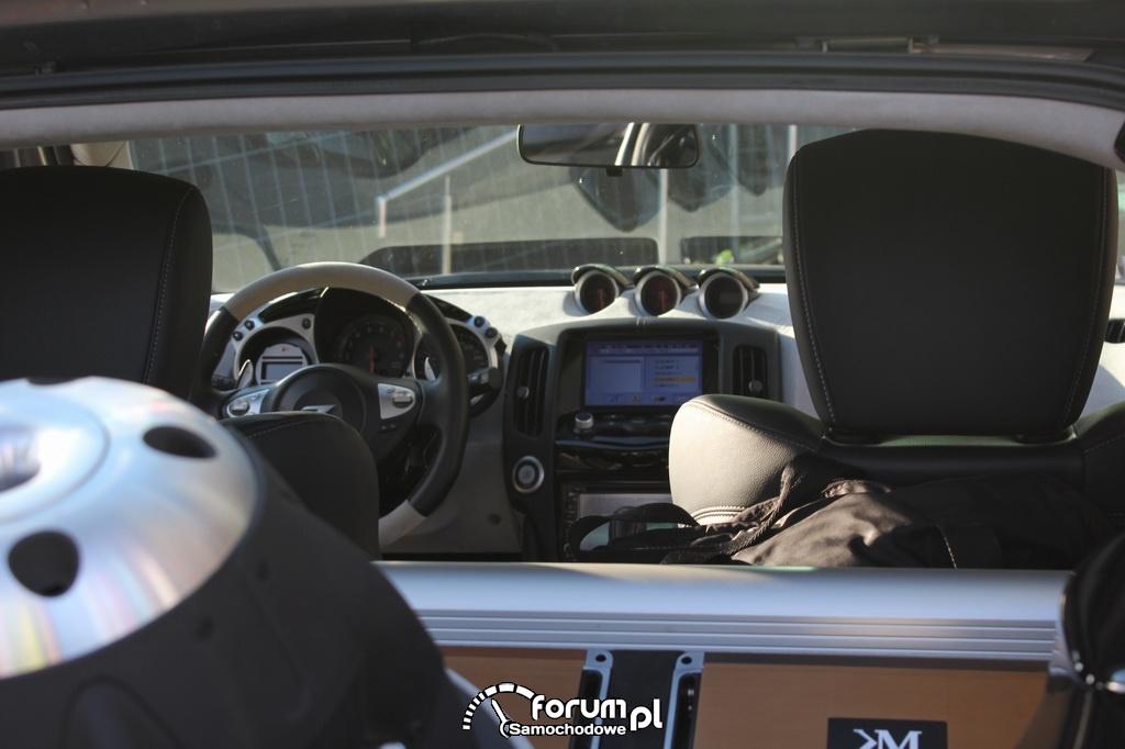 Nissan Z350, wnętrze, środkowa konsola