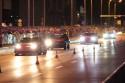 Samochody klasy Street w nocy