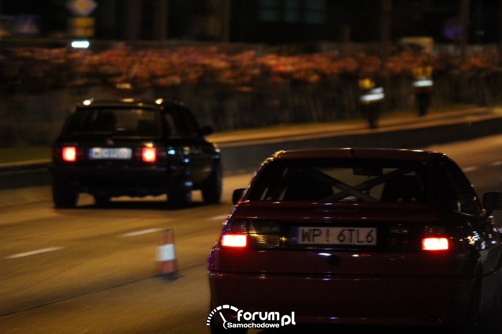 VW Corrado vs BMW, nocne wyścigi