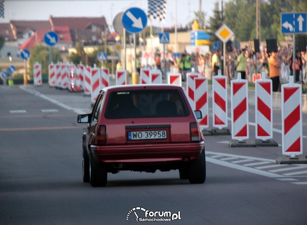Opel Corsa podczas wyścigu