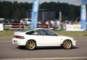 Honda CRX, biała, bok