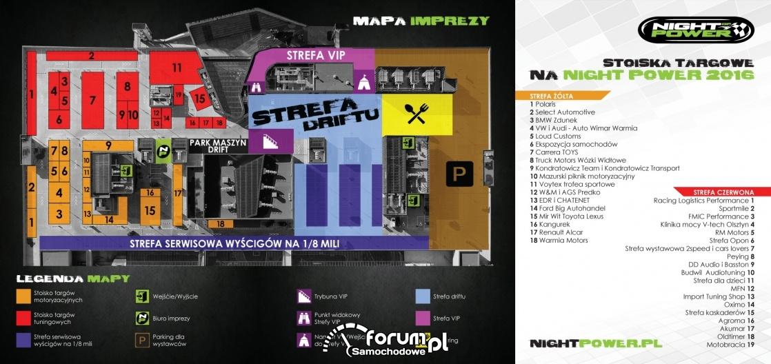 Mapa targów i driftu - Night Power 2016