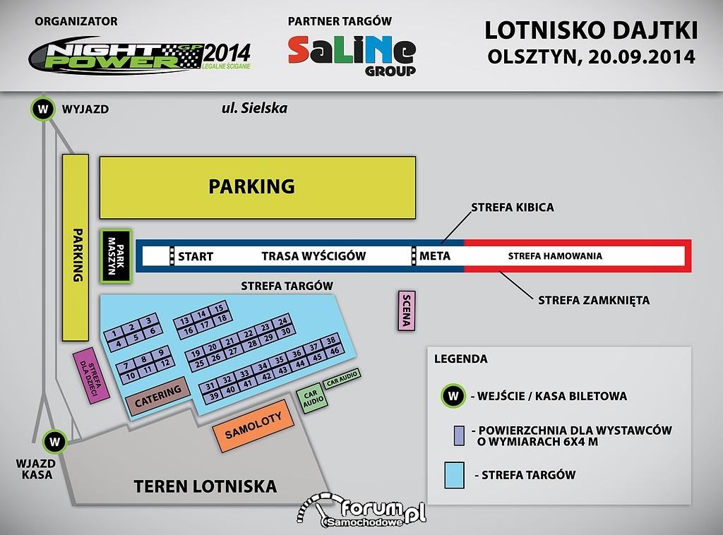 Mapka lotnisko Dajtki, Runda Bonusowa Night Power GP 2014
