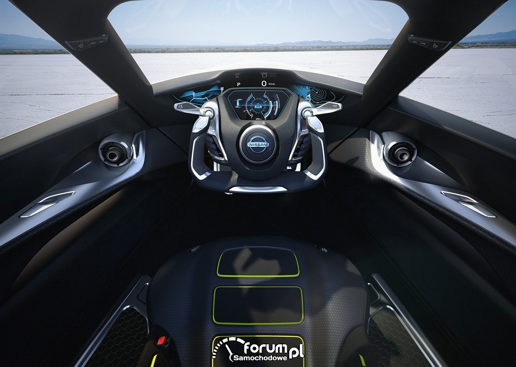 Nissan BladeGlider, wnętrze, concept