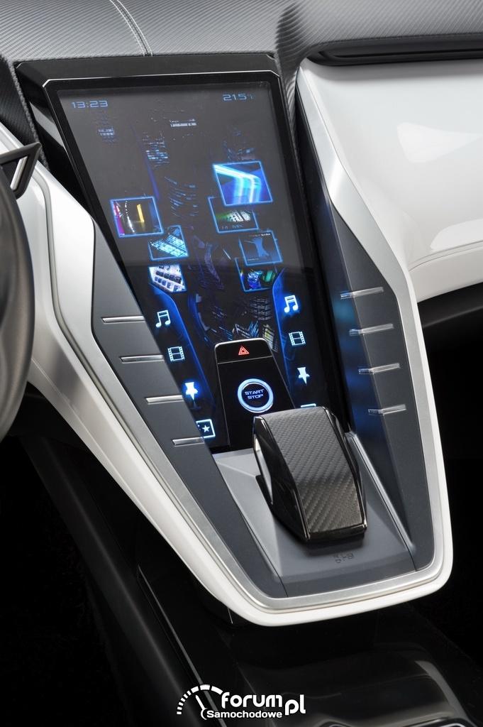 Nissan Friend-Me, model koncepcyjny, środkowa konsola