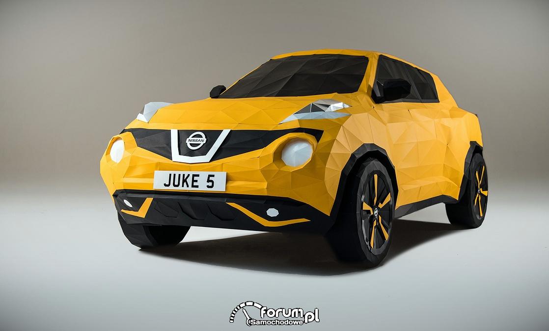 Origami stanowiące replikę Nissana Juke w skali 1:1