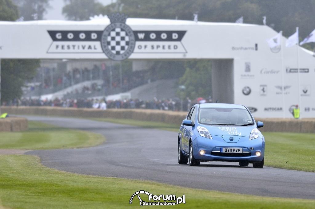 Nissan Leaf - tyłem do przyszłości, Goodwood Festival of Speed