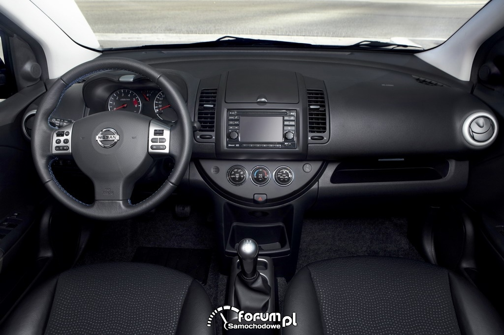 Nissan Note - wnętrze