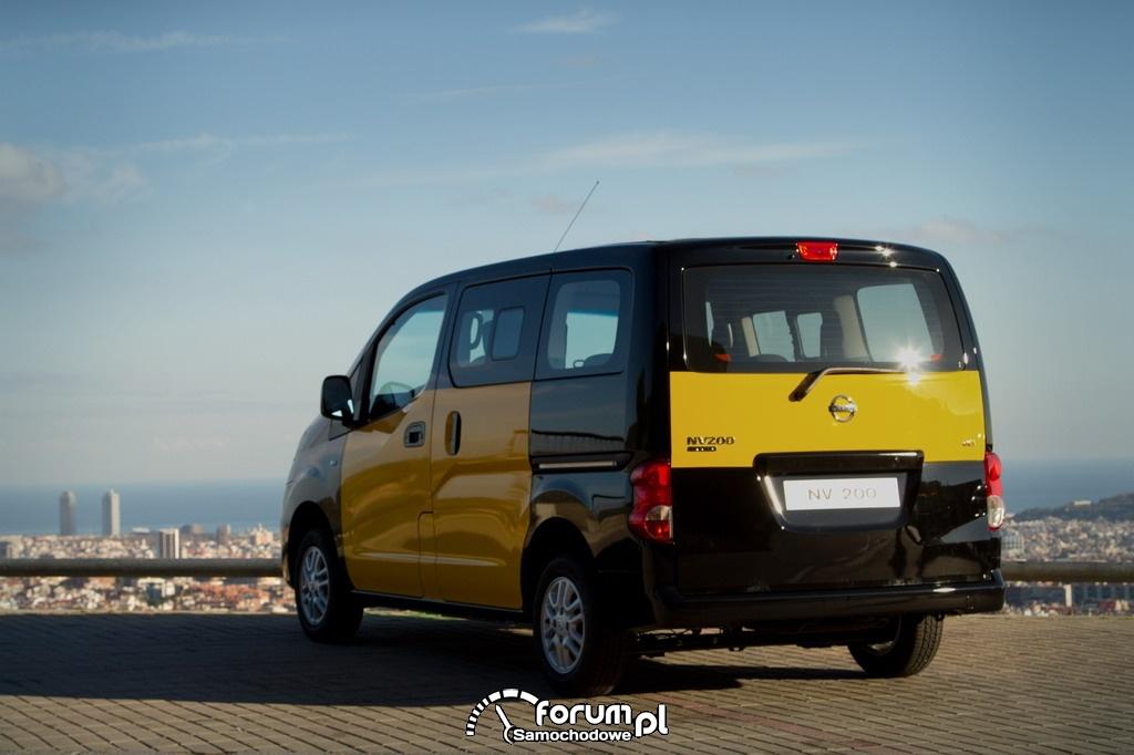 Nissan NV200, Taxi Barcelona, tył