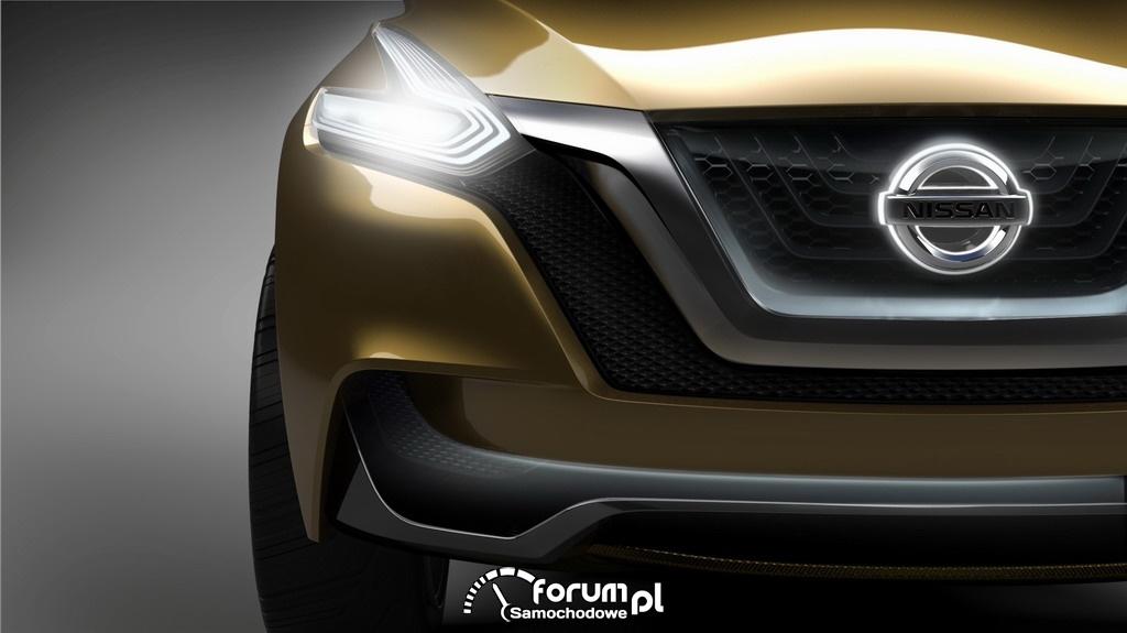 Nissan Resonance koncepcyjny crossover, przednie światła LED