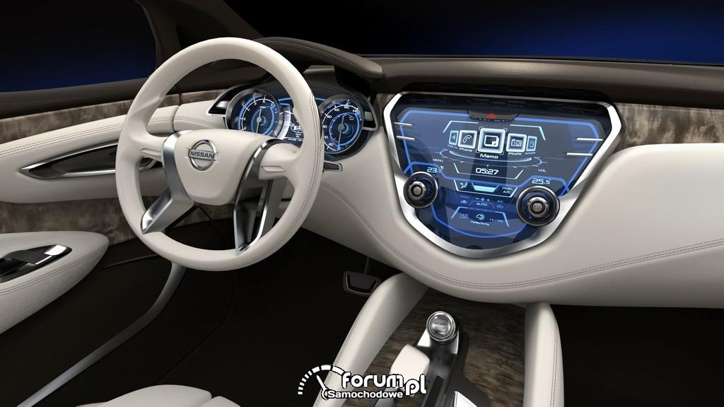 Nissan Resonance koncepcyjny crossover, wnętrze