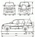 Nissan Terrano 5d wymiary