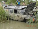 Awaria samochodu w głębokiej wodzie