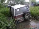 Daihatsu Feroza SX, tył w błocie