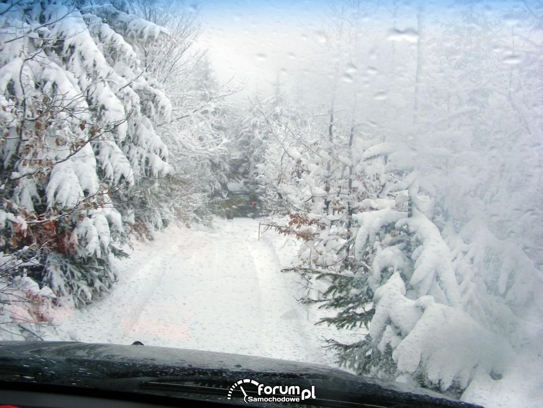 Jazda ośnieżonym szlakiem, Wisła zimą
