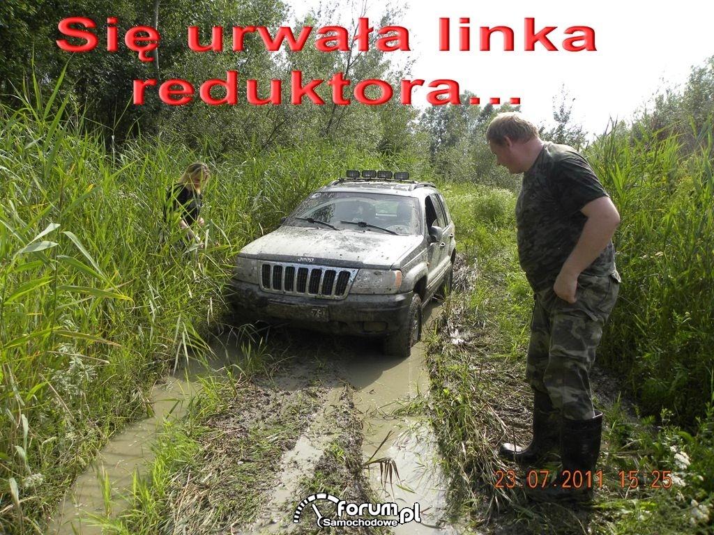 Jeep - urwana linka reduktora i co dalej?