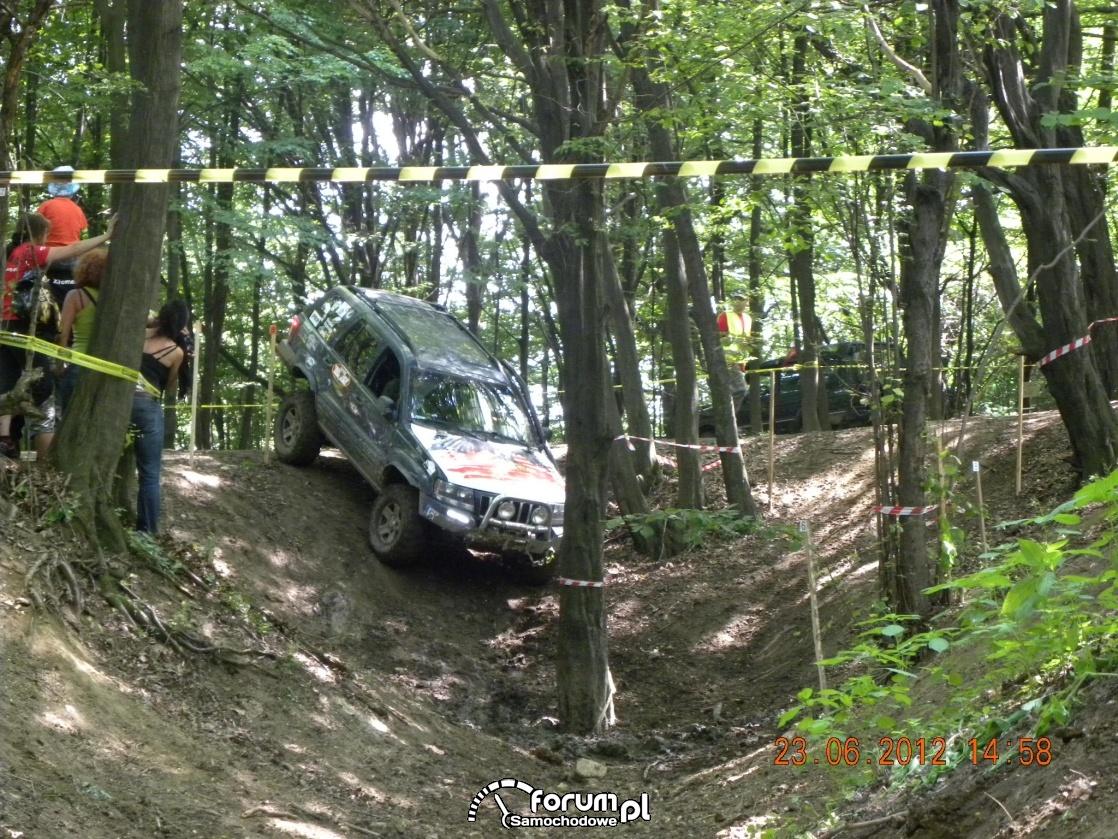 Jeep w terenie leśnym