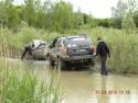 Jeepy w wodzie
