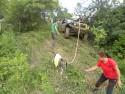 Koza daje radę i wyciąga Jeepa z tarapatów