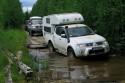 Mitsubishi L200 Expedition Camper, przeprawa wodna