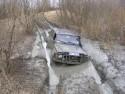 Nissan Patrol GR, przeprawa przez błoto i koleiny