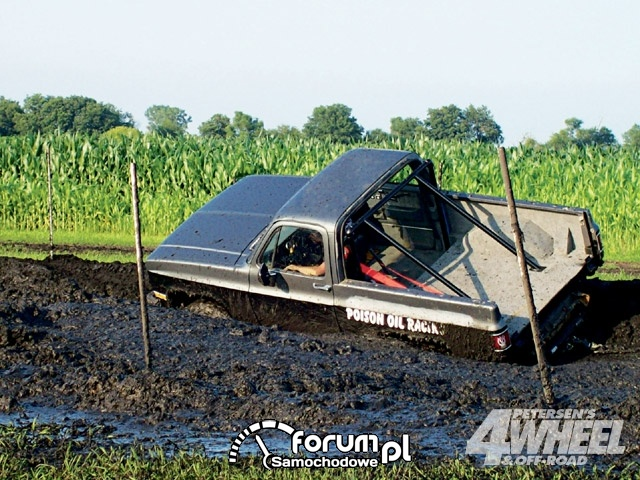 Off Road 4X4 Truck Whoops Stuck In Mud Truck