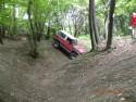Pokonywanie rowu Toyota Land Cruiser