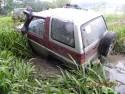 Przeprawa przez błoto Daihatsu Feroza SX