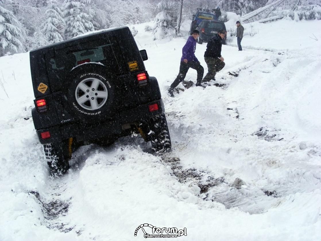 Ślisko, śnieg i góry, Wisła zimą