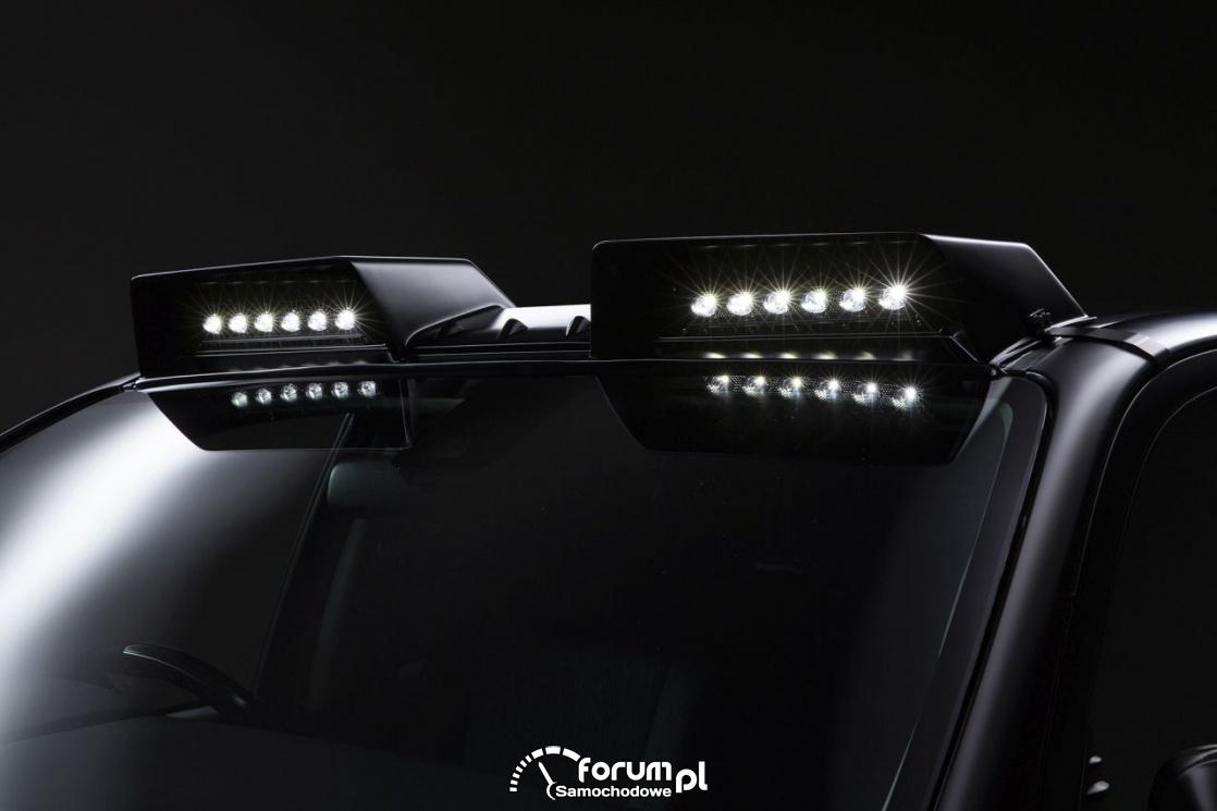 Toyota Hilux Sports Line Black Bison Edition, górne światła LED