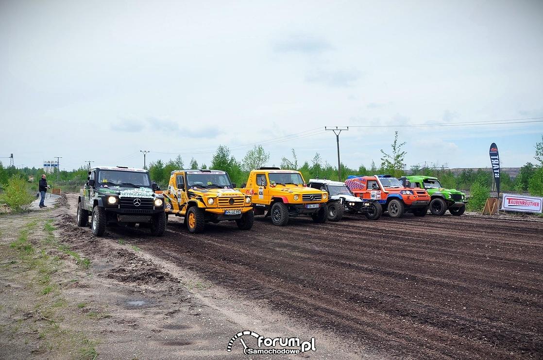 Wyścigi samochodów terenowych, Linia startu