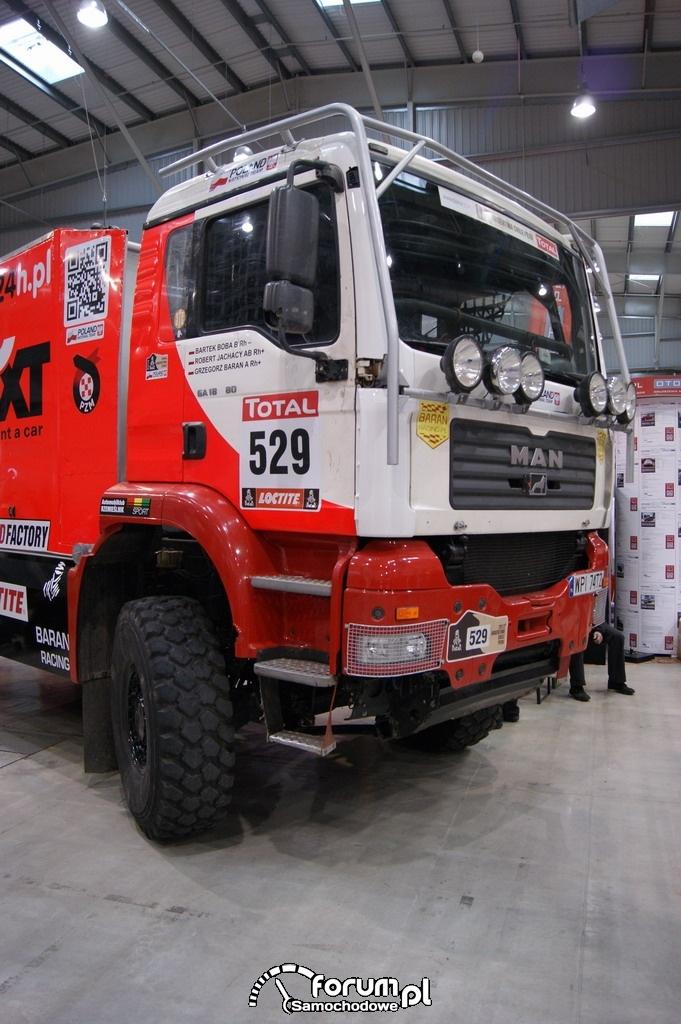 Ciężarówka MAN TG 4x4, Grzegorz Baran, kabina