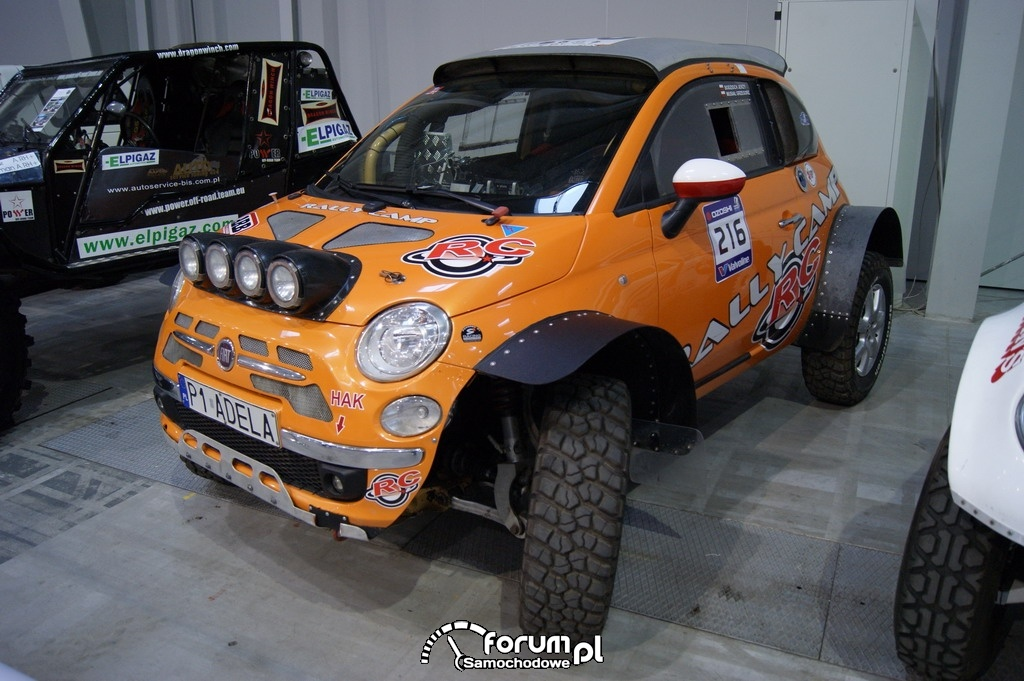Fiat 500, Rally Camp, offroad