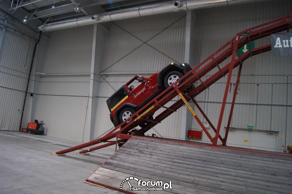 Jeep Wrangler, przejazd po rampie, 3