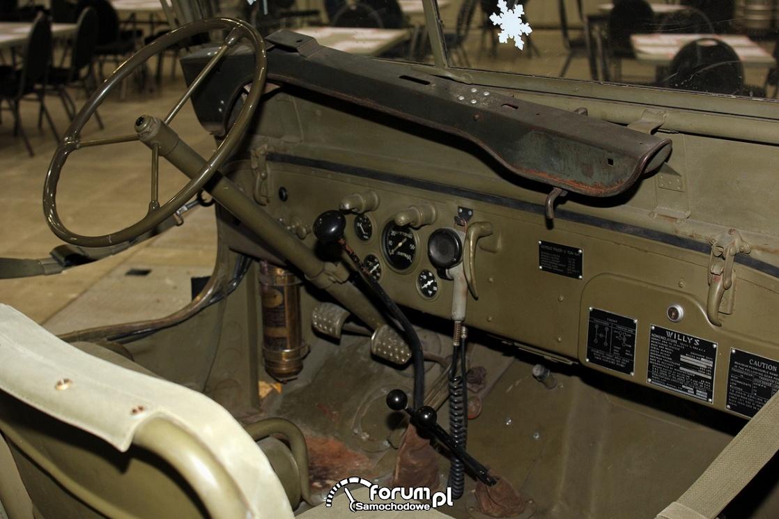 Jeep Willys, wnętrze