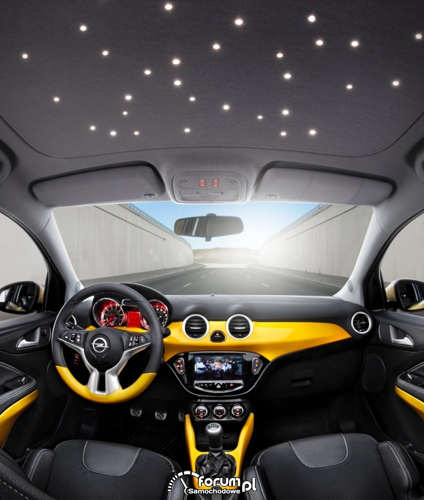 Opel Adam, LED w podsufitce