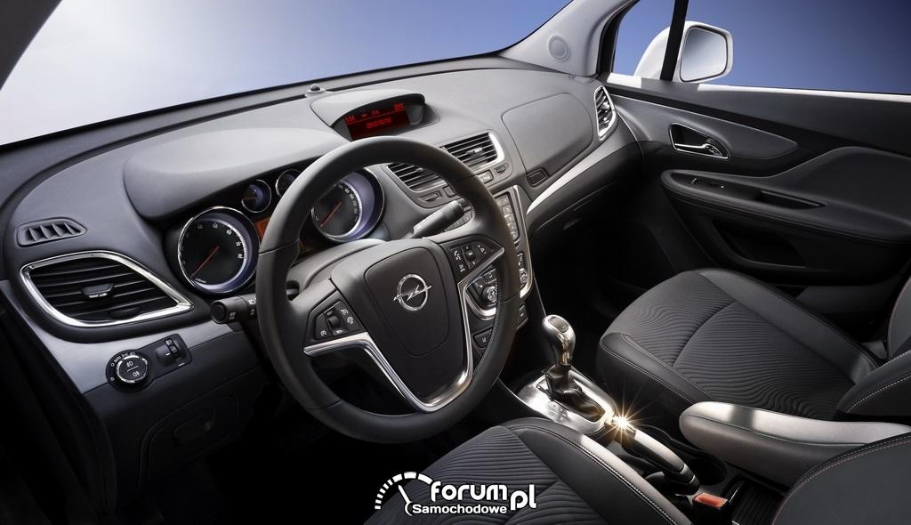 Opel Mokka SUV subcompact - wnętrze.
