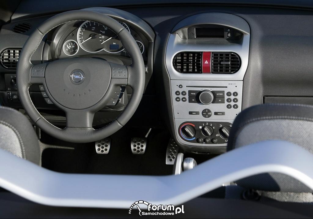 Opel Tigra TwinTop B, wnętrze, deska rozdzielcza