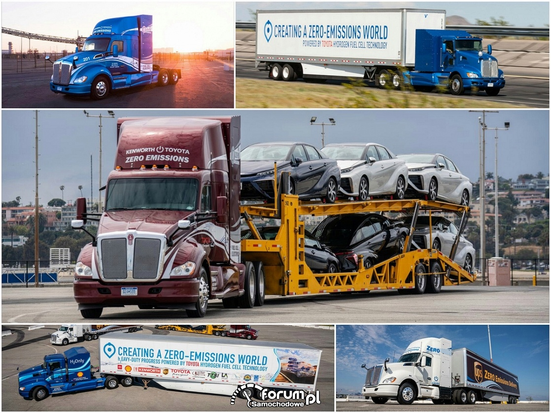 Ciężarowe pojazdy elektryczne, Ciężarówka na wodór