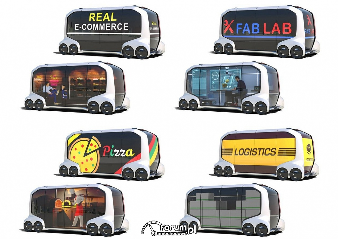 e-Palette Concept Vehicle, modułowy pojazd Toyoty