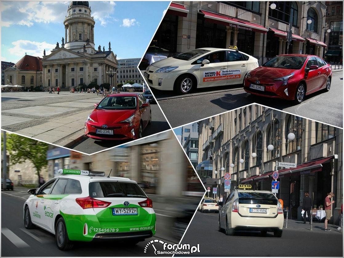Ekologiczne hybrydowe taksówki